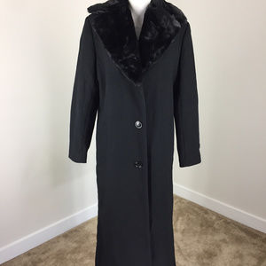 Donnybrook M 8 Black 100% pure Wool Long Car Coat